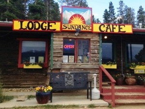 Sundance Cafe and Lodge Front auto 300x225 A Rustic Mountain Lodge on the Peak to Peak Highway, Nederland, Colorado